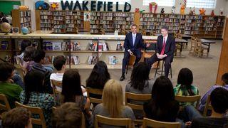 Obama at school